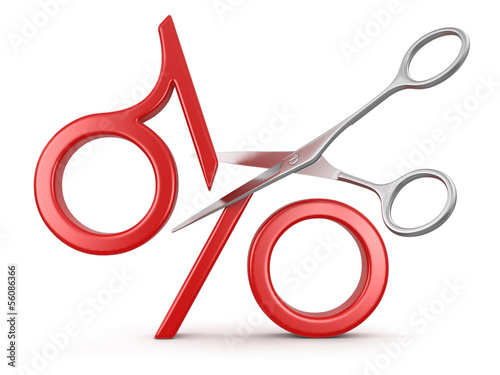 percent sign and Scissors (clipping path included)