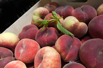 Close up of peaches