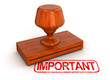 Rubber Stamp important (clipping path included)