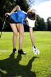 set golf ball on a peg