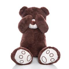 Trauriger Teddy isoliert - Depression, Angst, Ignoranz