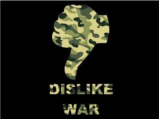 dislike war -  Anti Krieg Hand