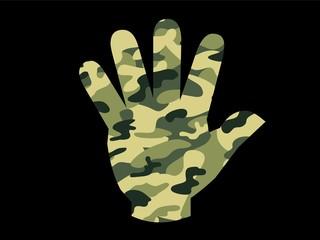 Stop Krieg Hand Camouflage