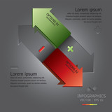 Modern Arrow Infographic Design Template