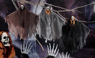 the dark night of Halloweeen