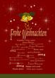 Weihnachtskarte mit Glocken, 2014