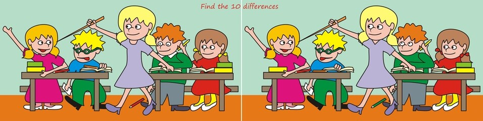 Find the 10 differences - classroom