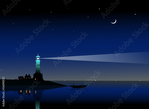 Night Lighthouse