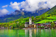 St. Wolfgang lake - beautiful Alpine lake in Austria