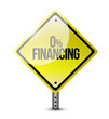 zero financing road sign illustration design