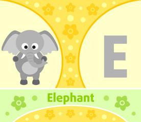 The English alphabet with Elephant