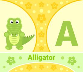 The English alphabet with Alligator