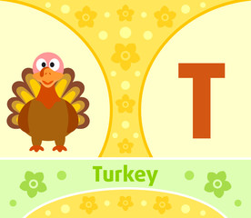 The English alphabet with Turkey