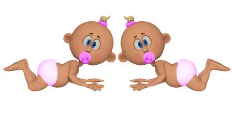 twins girls 3d