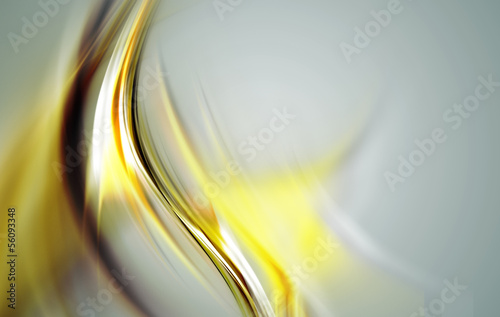 Creative gold wave