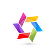 Abstract icon vector in vivid colors