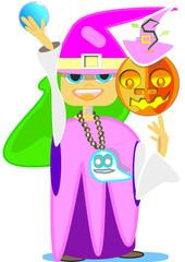Bruja de Halloween que miedoooooo