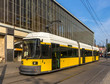 Modern tram in Berlin - Alexanderplatz