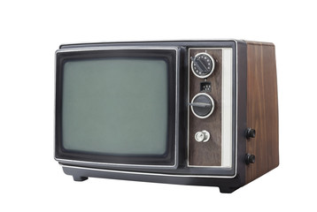 Retro Portable Television Set Isolated