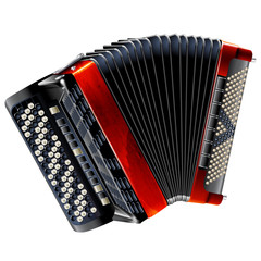 Classical bayan (accordion), isolated on white background
