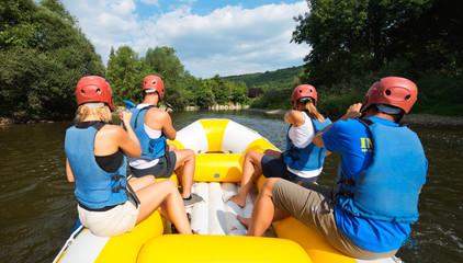 People rafting