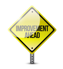 improvement ahead road sign illustration design