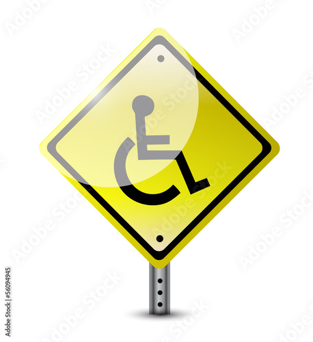 handicap road sign illustration design