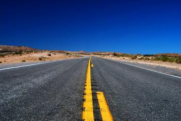 Route Américaine dans le désert