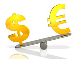 3DCG abstract illustration that represents the exchange rate