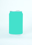 green drink can. Isolated on a white