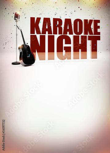 Karaoke music poster - 56097732