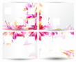 Brochure backgrounds with abstract flower