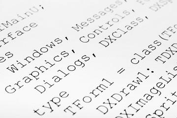 Printed computer code
