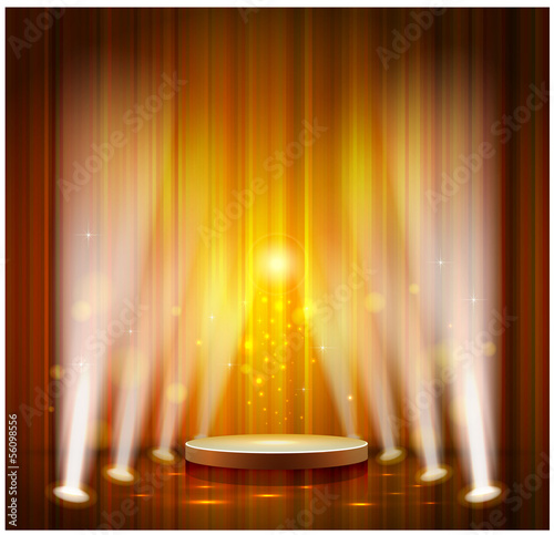 spotlight effect scene background