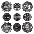 retro vintage badges and labels set