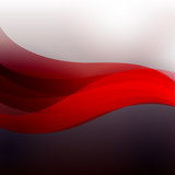 abstract red wawe
