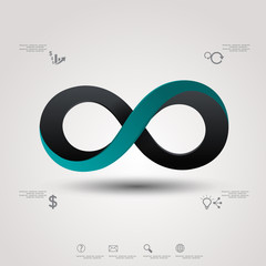 infinity sign with icons