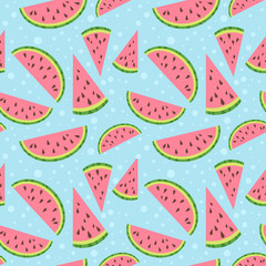 Watermelon vector colorful seamless pattern