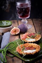 rustikale Tarte mit Rotwein