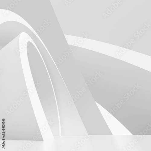 White Modern Architecture Background