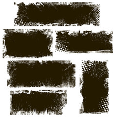 Grunge Backgrounds Vector Banners