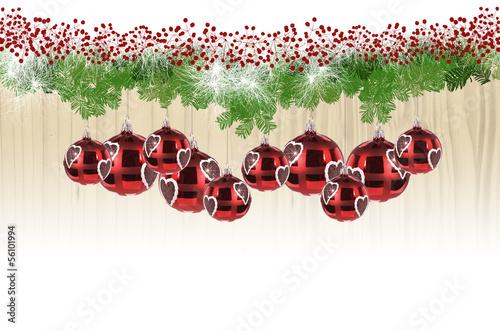 Weihnachtsgirlande rot grün