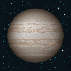 Planet Jupiter in space