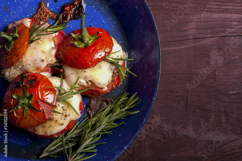 Roasted tomatoes cheese