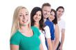 Gruppe lachende junge Leute isoliert - Studenten, Schüler