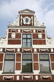 Historic facade dating from 1892 in the city of Groningen