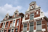Historic facades dating from 1892 in the city of Groningen