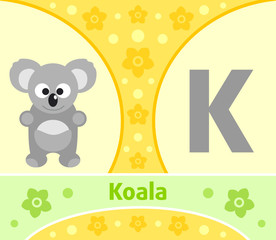 The English alphabet with Koala