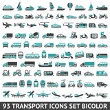 Fototapety 93 Transport icons set bicolor