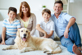 Family with dog